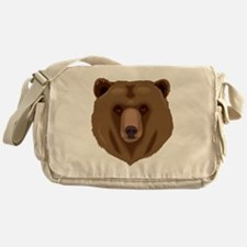 Brown Grizzly Bear Messenger Bag
