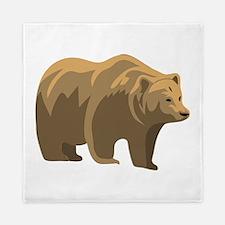 Brown Bear Queen Duvet