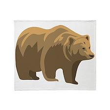 Brown Bear Throw Blanket