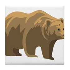Brown Bear Tile Coaster