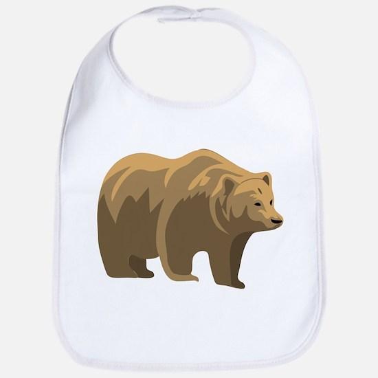 Brown Bear Bib