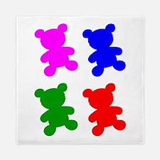 Pop Art Teddy Bear Silhouettes Queen Duvet