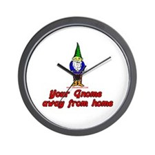 Your Gnome Away From Home Wall Clock