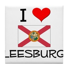 I Love LEESBURG Florida Tile Coaster
