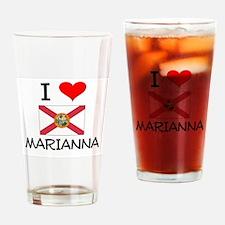 I Love MARIANNA Florida Drinking Glass