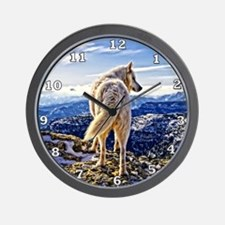 Leader of the Pack - Wolf Wall Clock