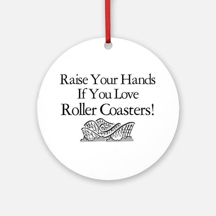 Roller Coaster Ornament (Round)