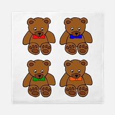 Teddy Bear Bowtie Pop Art Queen Duvet