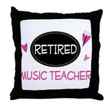 Retired Music Teacher Throw Pillow