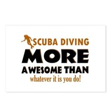 Awesome Scuba Diving designs Postcards (Package of