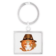 Bauble Cat Thanksgiving Keychains
