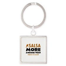 Awesome Salsa designs Square Keychain