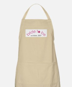Bride to be October 2007 BBQ Apron