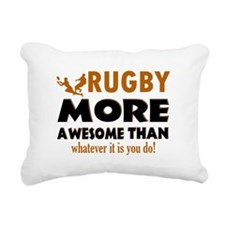 Awesome rugby designs Rectangular Canvas Pillow