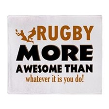 Awesome rugby designs Throw Blanket