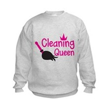 Pink cleaning queen with feather duster Jumper Swe