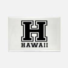 Hawaii State Designs Rectangle Magnet (10 pack)