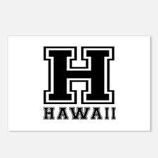 Hawaii State Designs Postcards (Package of 8)