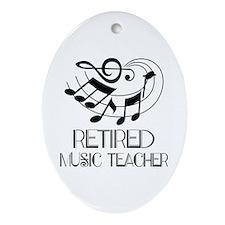 Retired Music Teacher Gift Ornament (Oval)