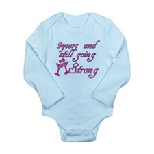 9th anniversary designs Onesie Romper Suit