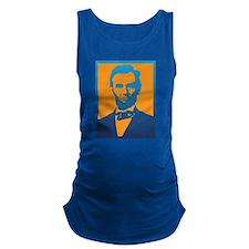 Abraham Lincoln Pop Art Maternity Tank Top