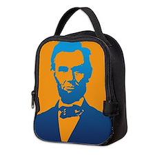 Abraham Lincoln Pop Art Neoprene Lunch Bag