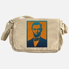 Abraham Lincoln Pop Art Messenger Bag