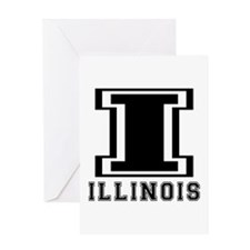 Illinois State Designs Greeting Card