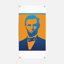 Abraham Lincoln Pop Art Banner