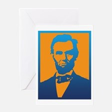 Abraham Lincoln Pop Art Greeting Cards