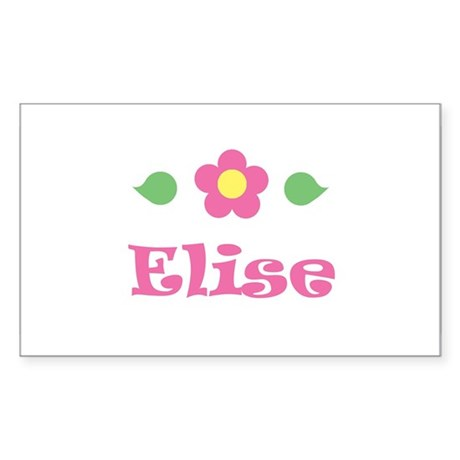 "Pink Daisy - ""Elise"" Rectangle Sticker"