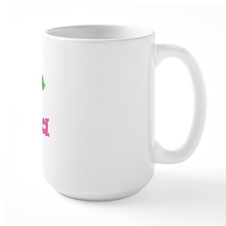 """Pink Daisy - """"Elena"""" Large Mug"""