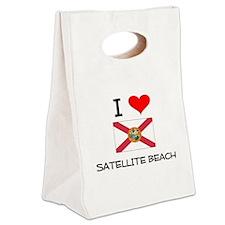 I Love SATELLITE BEACH Florida Canvas Lunch Tote