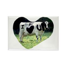 I Love You Cow Rectangle Magnet