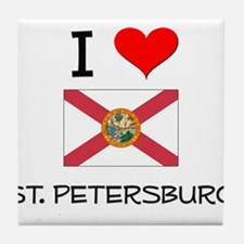 I Love ST. PETERSBURG Florida Tile Coaster