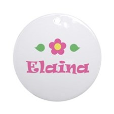 """Pink Daisy - """"Elaina"""" Ornament (Round)"""