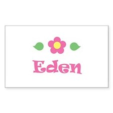 "Pink Daisy - ""Eden"" Rectangle Decal"