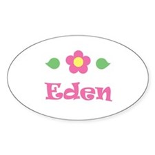 """Pink Daisy - """"Eden"""" Oval Decal"""
