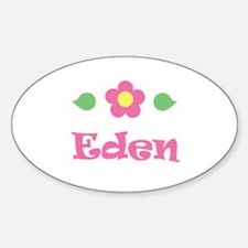 "Pink Daisy - ""Eden"" Oval Decal"