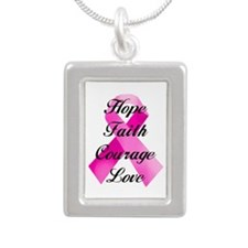 Pink Ribbon Necklaces
