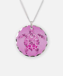 Pink Tribal Honu Turtle Necklace