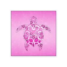 Pink Tribal Honu Turtle Sticker
