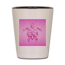 Pink Tribal Honu Turtle Shot Glass