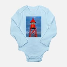 Small red lighthouse Body Suit