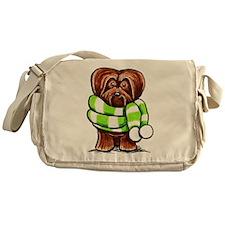 Chocolate Havanese Scarf Messenger Bag
