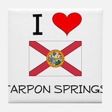 I Love TARPON SPRINGS Florida Tile Coaster