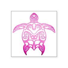 Pink Tribal Turtle Sticker