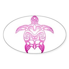 Pink Tribal Turtle Decal