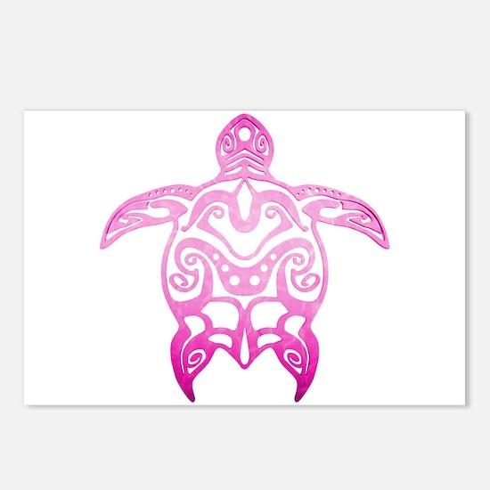 Pink Tribal Turtle Postcards (Package of 8)