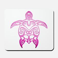Pink Tribal Turtle Mousepad